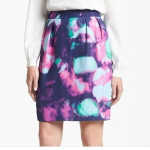 Kate Spade Abstract Floral Watercolor Skirt